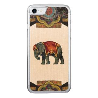 Funda Para iPhone 8/7 De Carved Madera REBELDE RETRA del elefante del circo