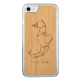 Funda Para iPhone 8/7 De Carved madera y seahorse del caso del iPhone 7