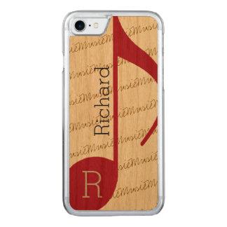 Funda Para iPhone 8/7 De Carved musical-nota roja real-fresca