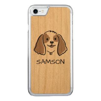 Funda Para iPhone 8/7 De Carved Perro del dibujo animado de cocker spaniel - texto