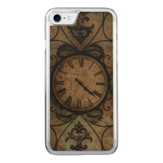 Funda Para iPhone 8/7 De Carved Reloj de pared antiguo gótico del vintage