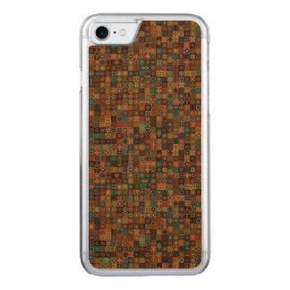 Funda Para iPhone 8/7 De Carved Remiendo del vintage con los elementos florales de