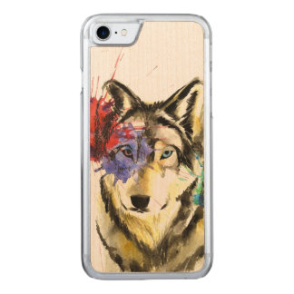Funda Para iPhone 8/7 De Carved Salpicadura del lobo