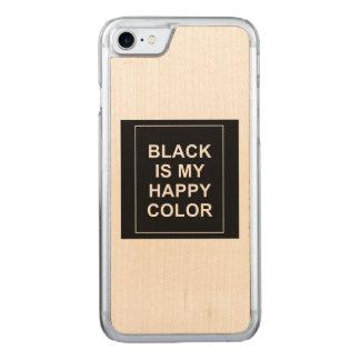 FUNDA PARA iPhone 8/7 DE CARVED SKAM - BLACK IS MY HAPPY COLOR