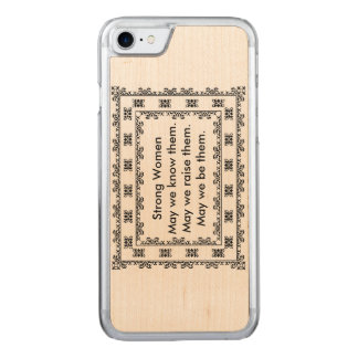 Funda Para iPhone 8/7 De Carved Tapetito del cordón con el texto con respecto a