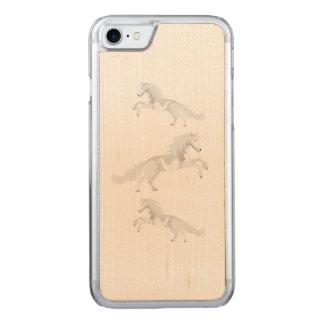 Funda Para iPhone 8/7 De Carved Unicornio del blanco del ejemplo