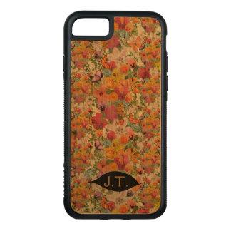 Funda Para iPhone 8/7 De Carved Vida del diseño de las flores con los monogramas