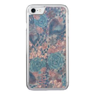 Funda Para iPhone 8/7 De Carved Watercolor in blues