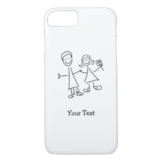 Funda Para iPhone 8/7 De común acuerdo amantes que dibujan iPhone