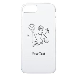 Funda Para iPhone 8/7 De común acuerdo amantes que dibujan la caja