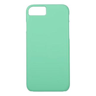 Funda Para iPhone 8/7 ~ del VERDE de la ESPUMA del MAR (color sólido)