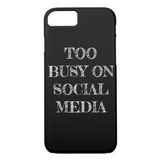 """Funda Para iPhone 8/7 """"Demasiado ocupado en caja del teléfono de los"""