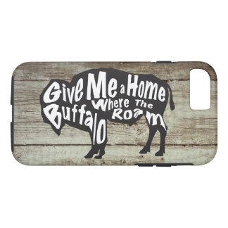 Funda Para iPhone 8/7 Déme un hogar en donde el búfalo vaga por el caso