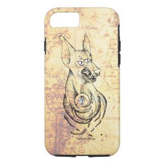 Funda Para iPhone 8/7 Demonio de gruñido del Doberman