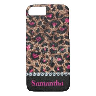 Funda Para iPhone 8/7 Diamante animal del rosa elegante del leopardo
