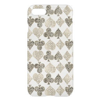 Funda Para iPhone 8/7 Diamante beige Antiqued envejecido del corazón del