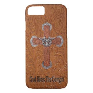 Funda Para iPhone 8/7 Dios bendice el caso del iPhone 7 del cuero de la