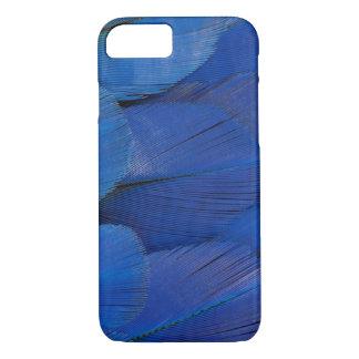 Funda Para iPhone 8/7 Diseño azul de la pluma del Macaw del jacinto