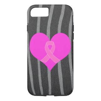 Funda Para iPhone 8/7 Diseño de la caridad del cáncer del corazón y de