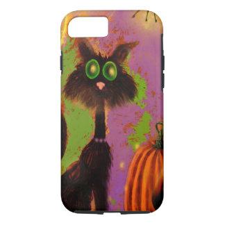 Funda Para iPhone 8/7 Diseño del gato negro de Halloween