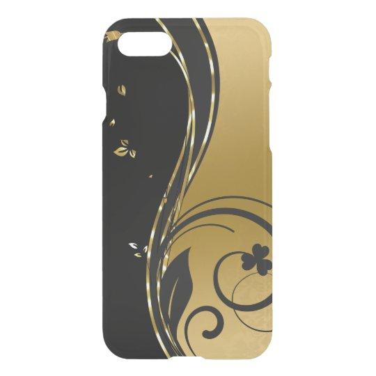 Funda Para iPhone 8/7 Diseño floral GR1 de los remolinos del oro negro y
