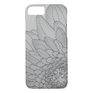 Funda Para iPhone 8/7 Diseño floral gráfico gris grande del girasol el |