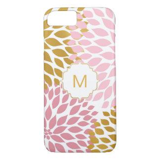 Funda Para iPhone 8/7 Diseño floral rosado del oro