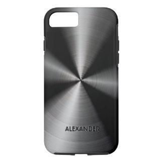 Funda Para iPhone 8/7 Diseño metálico brillante negro