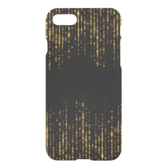 Funda Para iPhone 8/7 Diseño negro y atractivo GR2 del purpurina del oro
