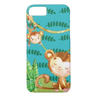 Funda Para iPhone 8/7 Diversión divertida de la selva del mono