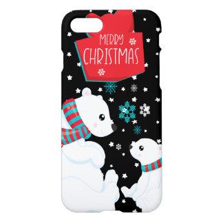 Funda Para iPhone 8/7 Dos Felices Navidad de los osos polares