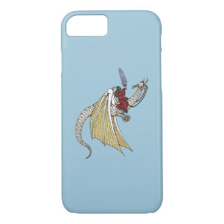 Funda Para iPhone 8/7 Dragón blanco que monta del mago