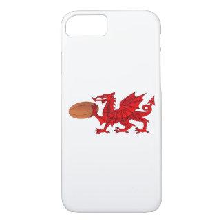 Funda Para iPhone 8/7 Dragón Galés con un iPhone 7 o de la bola de rugbi