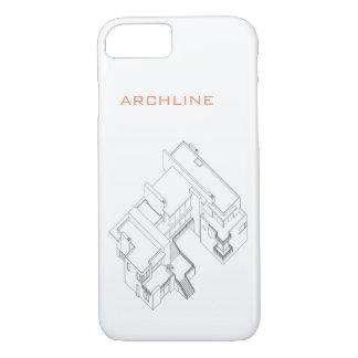 Funda Para iPhone 8/7 drawnig arquitectónico del CASO del iPHONE 7