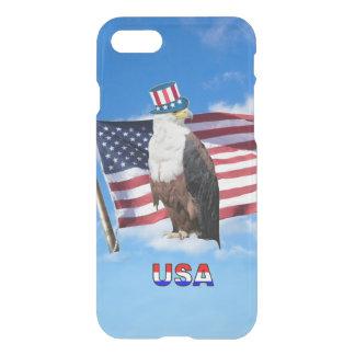 Funda Para iPhone 8/7 Eagle calvo americano y bandera americana