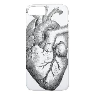 Funda Para iPhone 8/7 Ejemplo blanco negro simple del corazón de la