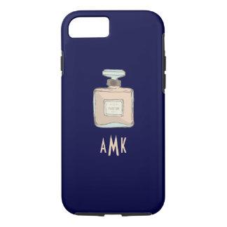 Funda Para iPhone 8/7 Ejemplo de la botella de Parfum con iniciales del