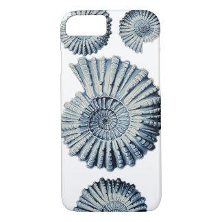 Funda Para iPhone 8/7 Ejemplo Shell espiral azul de la naturaleza del