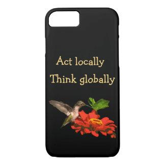 Funda Para iPhone 8/7 El acto localmente piensa global el caso del