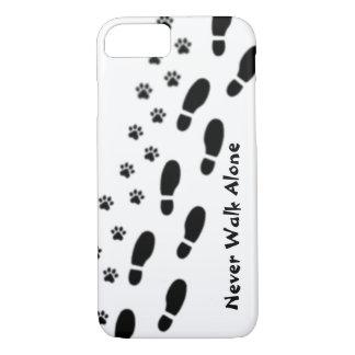 Funda Para iPhone 8/7 El amante del perro nunca camina caso solo del
