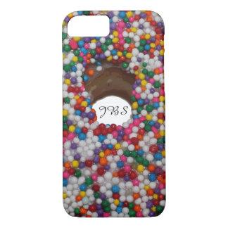 Funda Para iPhone 8/7 El arco iris asperja el monograma del agujero del