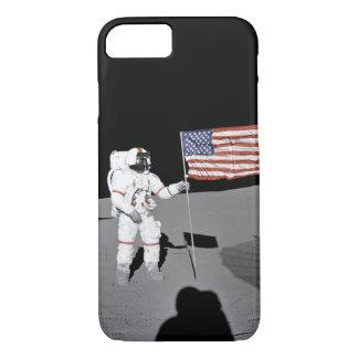 Funda Para iPhone 8/7 El astronauta hace una pausa la bandera de los
