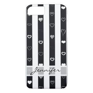 Funda Para iPhone 8/7 El blanco negro elegante raya el modelo moderno