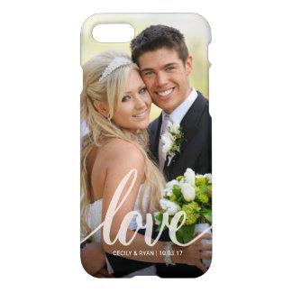 Funda Para iPhone 8/7 El boda blanco de la escritura del amor junta la
