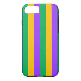 Funda Para iPhone 8/7 El carnaval raya amarillo verde púrpura del modelo