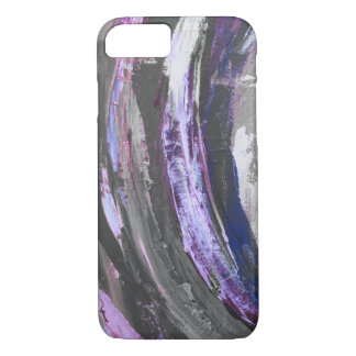 Funda Para iPhone 8/7 El cepillo púrpura frota ligeramente la caja del