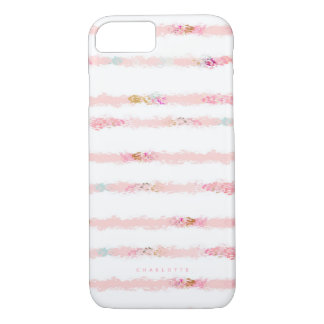 Funda Para iPhone 8/7 El cepillo rosado de la acuarela frota ligeramente