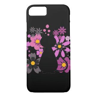 Funda Para iPhone 8/7 El gato en rosa florece IPhone 7/8 caso de Barely
