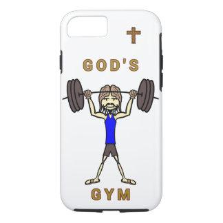 Funda Para iPhone 8/7 El gimnasio de dios (caso duro del iPhone 7)