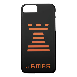 Funda Para iPhone 8/7 El iPhone de ChessME añade el naranja negro